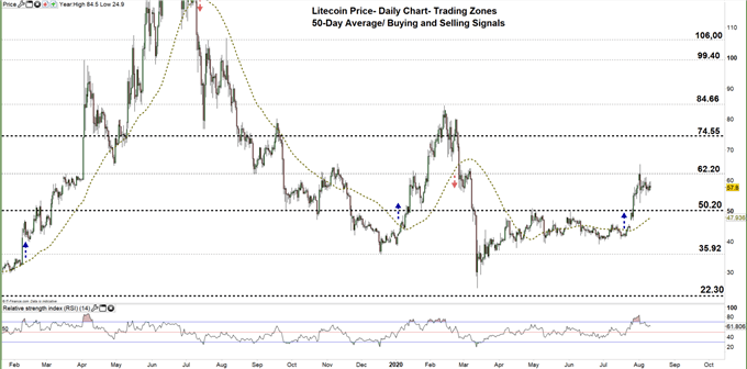 Litecoin daily price chart 11-08-20 zoomed out